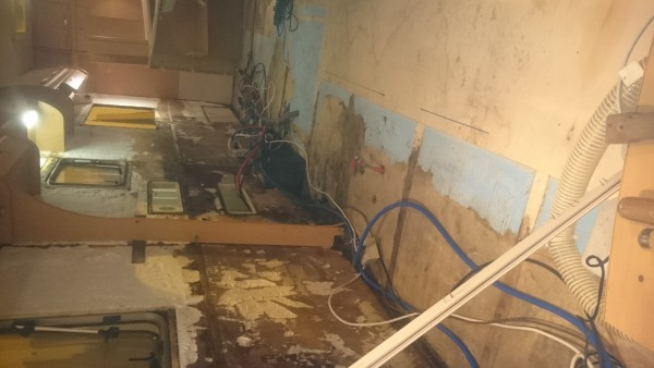 Bailey Damp Floor Removed Walls Stripped Drying Before Final Strip & Clean